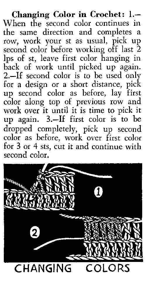 change colors in crochet