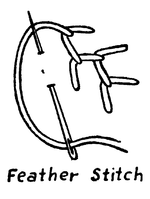 Feather Stitch Embroidery How To French Knots