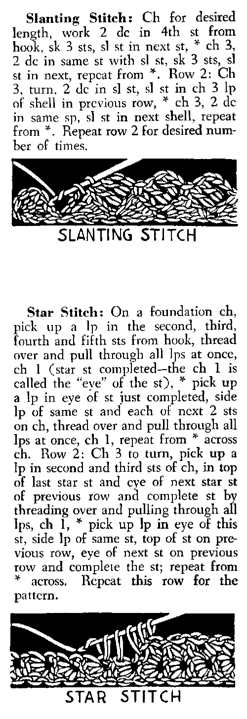 star crochet stitch