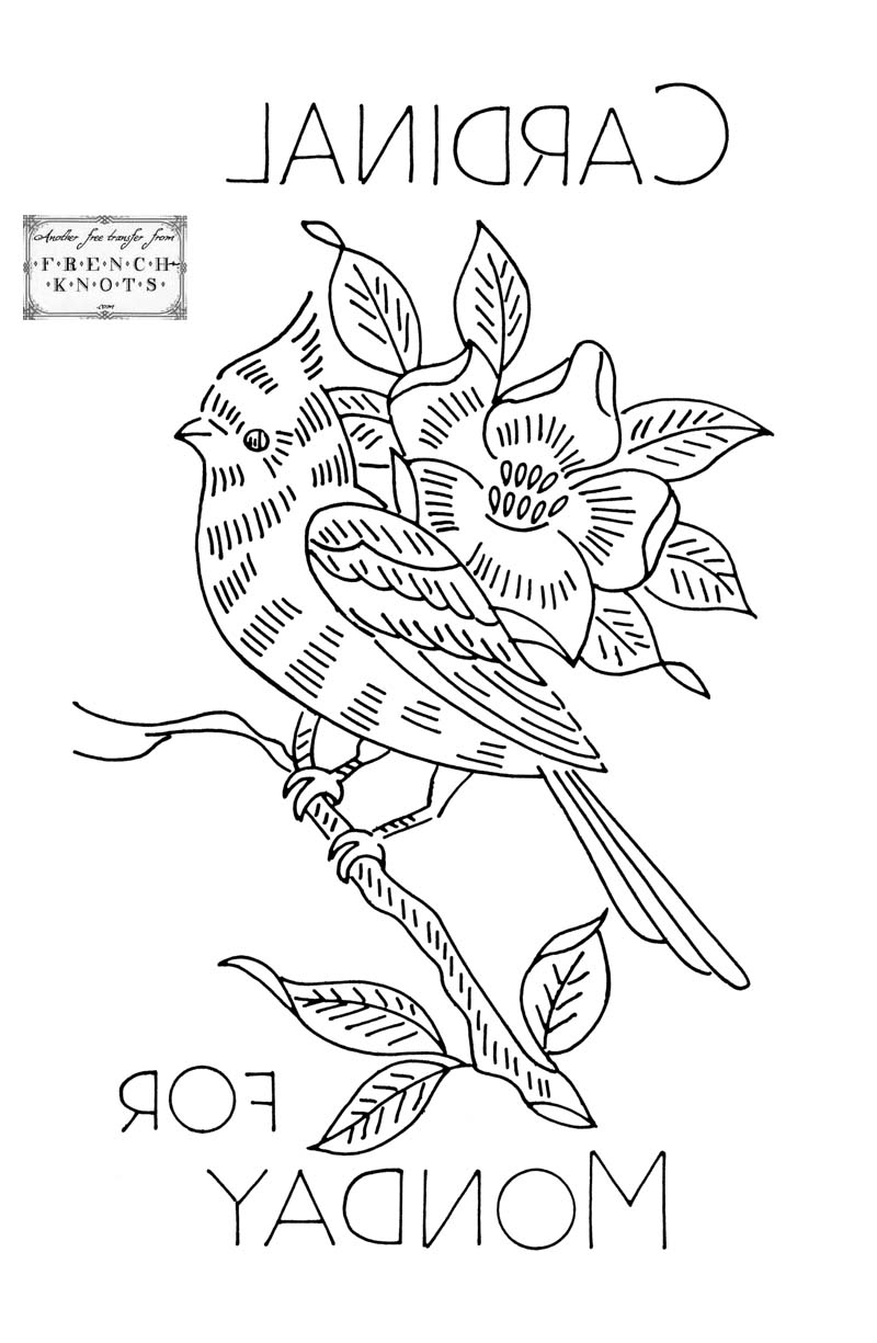 Bird Embroidery Patterns - French Knots