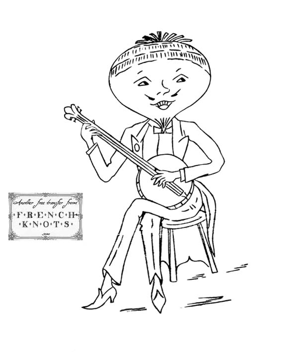 Vitamin Ball Silly Food Musicians Embroidery Transfer Patterns