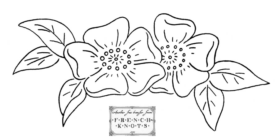 Flowers Nature Embroidery Patterns French Knots