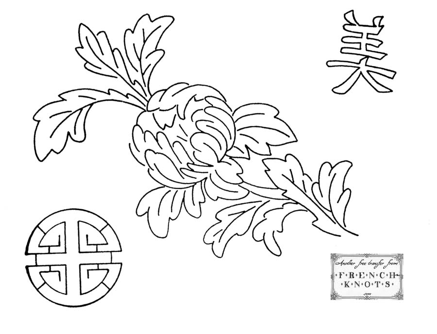 Oriental Embroidery Patterns French Knots