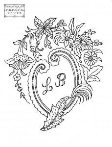hanky monogram embroidery transfer