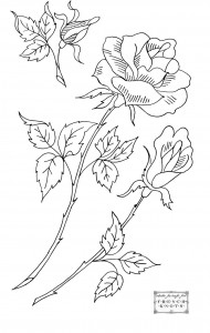 roses embroidery transfer pattern