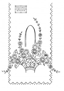 basket embroidery transfer