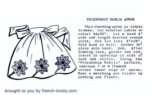 dahlia apron pattern