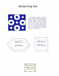 kansas dugout free vintage quilting pattern