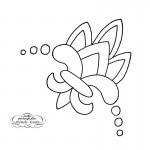 Fleur-de-lis Floral and Leaves Embroidery Transfer Pattern