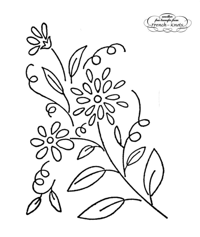 Daisies Embroidery Patterns French Knots