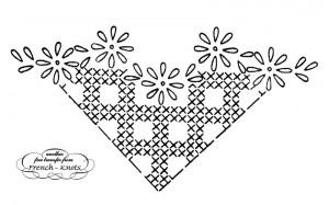corner daisy embroidery pattern