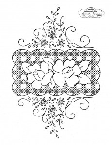 rose embroidery transfer pattern