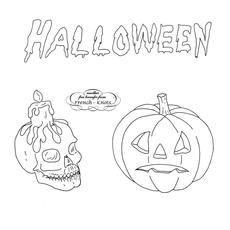 Halloween Embroidery Patterns French Knots