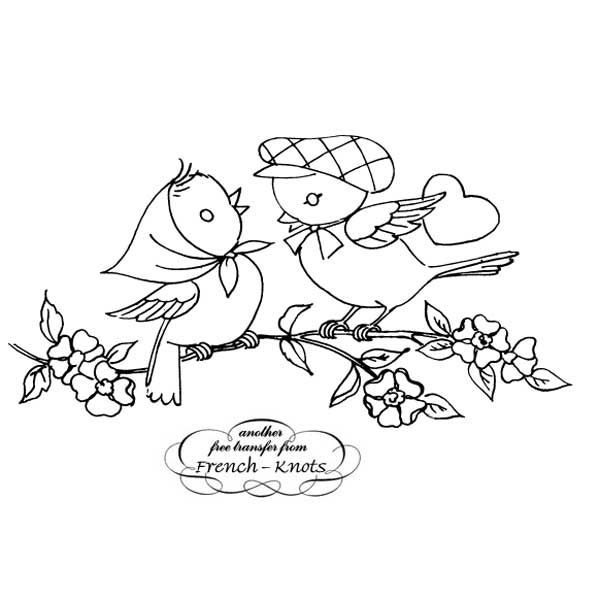 Bird Embroidery Patterns French Knots
