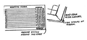 ribbon apron sewing pattern